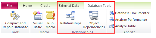 how to add tables to relationship window in access
