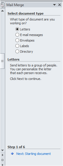 how to create a mail merge document in word